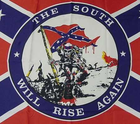 Close-up of the Confederate flag
