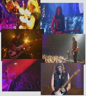 Screenshots of the video from the official Iron Maiden website