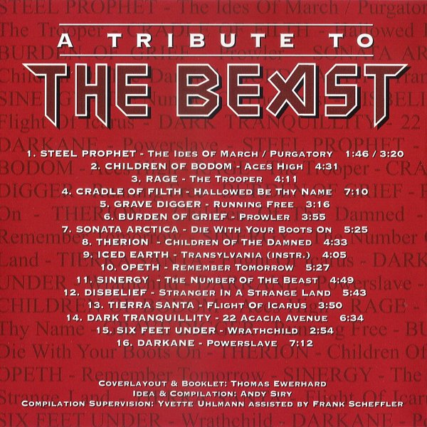 A Tribute To The Beast – Back cover